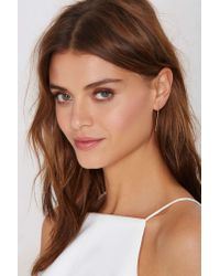 Nasty Gal | Metallic Bar None Earrings | Lyst