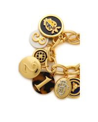 Tory Burch - Metallic Dellora Charm Bracelet - Multi/Shiny Brass - Lyst