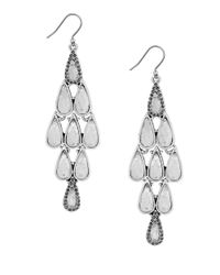 Lucky Brand | Metallic Semi-precious Stone Chandelier Earrings | Lyst