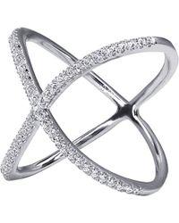 Carat* - Crux Millennium White Gold Finish Ring - Lyst