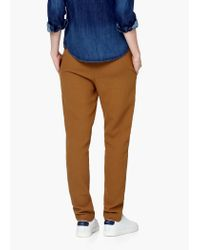 Mango | Brown Textured Baggy Trousers | Lyst