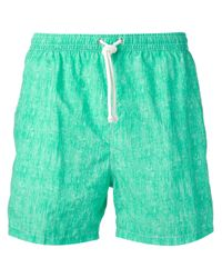 Kiton | Green Classic Swim Shorts for Men | Lyst