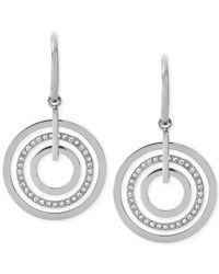 Michael Kors | Metallic Clear Circle Drop Earrings | Lyst