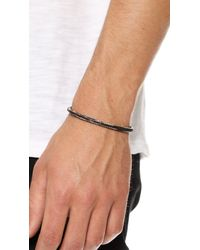 Cause and Effect - Gray Painted Sterling Silver Cuff for Men - Lyst