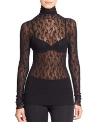 Wolford - Black Lilie Turtleneck Top - Lyst