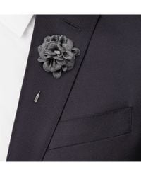Lanvin - Gray Woven Buttonhole Flower Pin for Men - Lyst