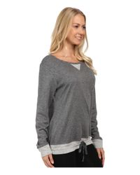 Carole Hochman | Gray Double Faced Jersey Long Sleeve Top | Lyst