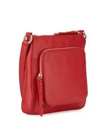 Cole Haan | Red Amherst Leather Crossbody Bag | Lyst