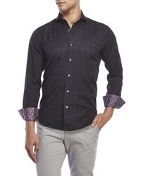 Bogosse - Gray Sport Shirt for Men - Lyst