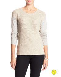 Banana Republic | Natural Factory Cross-stitch Sweater | Lyst