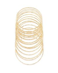 Forever 21 | Metallic Dimpled Bangle Set | Lyst