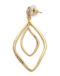 Alexis Bittar | Metallic Linear Orbiting Pave Earrings - Gold | Lyst