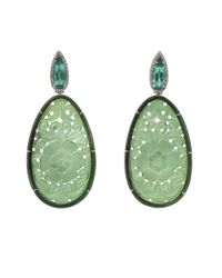Silvia Furmanovich | Carved Green Tourmaline Earrings | Lyst