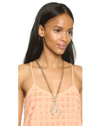 Lulu Frost - Metallic Portico Pendant Necklace - Gold/clear - Lyst