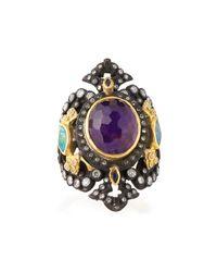 Armenta - Metallic Sugelite & Opal Iris Cutout Ring - Lyst