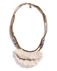 Serefina | Brown White Hmong Tassel Necklace | Lyst
