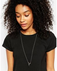 ASOS | Blue Open Triangle Nugget Long Pendant Necklace | Lyst