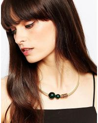 Pieces - Metallic Ohanna Necklace - Lyst