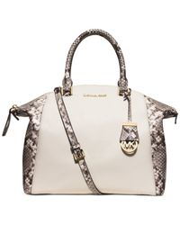 Michael Kors | Natural Michael Riley Large Satchel | Lyst
