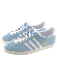 Lyst - adidas Originals Gazelle Og Trainers in Blue for Men f59b26107