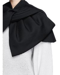 Marc By Marc Jacobs - Black Twist Front Wool Blend Twill Cape - Lyst