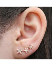 Anne Sisteron - Pink 14kt Rose Gold Diamond Etoile Ear Cuff - Lyst