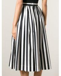 Dolce & Gabbana - Black Striped Midi Skirt - Lyst