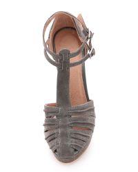 Joie | Gray Rexanne Suede Platform Heels | Lyst