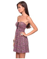 Forever 21 | Multicolor Blooming Corset Sweetheart Dress | Lyst