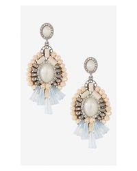 Express - Pink Multi Stone Dangle Earrings - Lyst