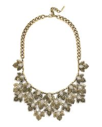 BaubleBar | Metallic 'apfel' Crystal Bib Necklace | Lyst