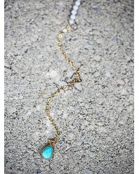 Free People | Blue Pendulum Stone Necklace | Lyst
