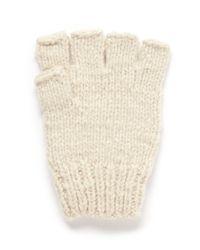 The Elder Statesman | White Cashmere Fingerless Gloves | Lyst