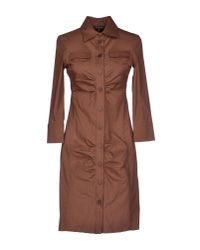 Patrizia Pepe | Brown Short Dress | Lyst
