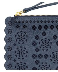 H&M - Blue Clutch Bag With A Hole Pattern - Lyst