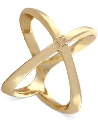 BCBGeneration | Metallic Gold-Tone X Ring | Lyst
