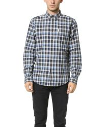 Ben Sherman | Blue Indigo Plaid Shirt for Men | Lyst