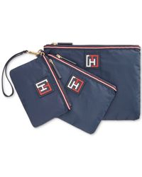 Tommy Hilfiger | Blue Training Plus Solid Nylon 3 Pouch Set | Lyst