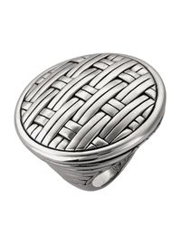 John Hardy | Metallic Silver Basket-Weave Ring | Lyst