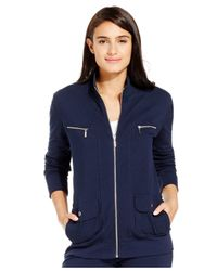 Style & Co. | Blue Sport French Terry Zip-up Track Jacket | Lyst
