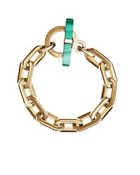 MICHAEL Michael Kors | Metallic Cityscape Chains Malachite Toggle Bracelet | Lyst