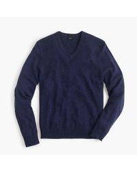J.Crew - Blue Slim Softspun V-neck Sweater for Men - Lyst