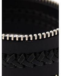 Aech Cheli - Black 'Zip' Bracelet - Lyst