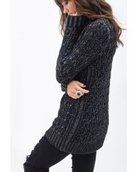 Forever 21 - Black Knit Turtle Neck Sweater - Lyst