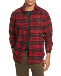 Relwen | Black Regular Fit Double Face Flannel Shirt for Men | Lyst