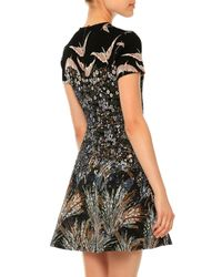Valentino - Multicolor Landscape Jacquard Fit-and-flare Dress - Lyst