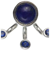 Pamela Love | Metallic Silver Lapis 3 Gravitation Earrings | Lyst
