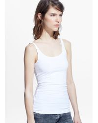 Mango | White Strap Top | Lyst