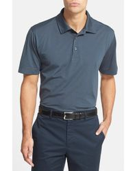 Cutter & Buck | Black 'Medina Stripe' Drytec Moisture Wicking Polo for Men | Lyst