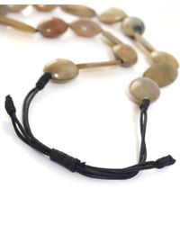 Jules B | Natural Chunky Oval Bead Necklace | Lyst